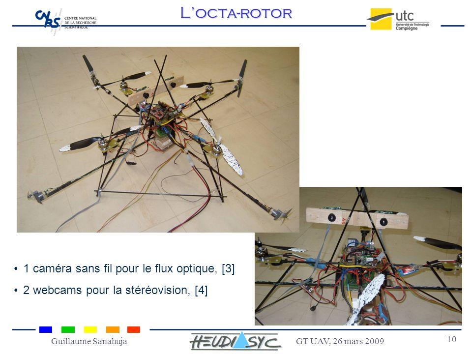 L'octa-rotor 1 caméra sans fil pour le flux optique, [3]